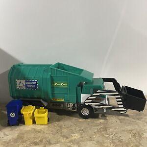 Tonka Motorized Garbage Truck 2011 Hasbro Funrise #06744 Lite Wear & 3 Bins