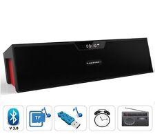 Altoparlante Wireless Bluetooth W / Mic LCD Sveglia TF / RADIO FM MP3 LETTORE MUSICALE UK