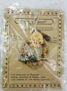 1998-Carver's Choice- Santa and the Final Inspection- Boyd's Bears Pin Brooch
