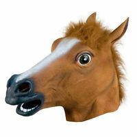 MASCHERA TESTA CAVALLO HORSE HALLOWEEN CARNEVALE COSPLAY MARRONE BOJACK HORSEMA