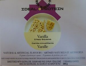 Ideal Protein VANILLA CRISPY SQUARES (4 boxes of 7)