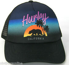 Hurley Half Mesh Destination California Trucker Hat  Hurley Surfing Beach Hurley