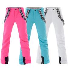 Women Lady Waterproof Ski Snowboard Snow pants Outdoor Warm Skate Bibs Pants