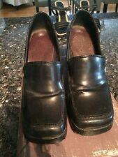 Fioni - Black Square Toe Heels