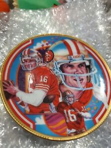 Joe Montana San Francisco 49ers Sport Impressions Collector Mini- Plate Series