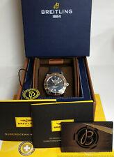 Scarce Breitling Super Ocean IB2020 Rose Gold Steel Chronometer Box Papers 46mm