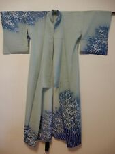 VINTAGE AUTHENTIC JAPANESE KIMONO LIGHT BLUE WITH A BAMBOO DESIGN