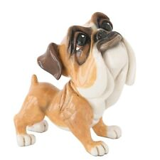 More details for little paws mick the bulldog figurine new in gift box
