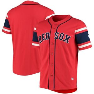 D72 Mens Large Boston Red Sox Iconic Franchise Cotton Supporters Jersey - Red