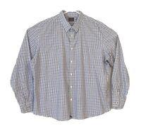 UNTUCKit Men's Button Up Blue White Check Size XXXL