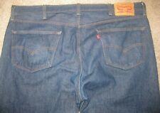 Levis 501 Mens Blue 42 x 32 Button Fly Straight Denim Jeans