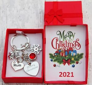 XMAS GIFT Keyring for Mum Daughter Dad Friend Best friend Nan- Christmas Gifts