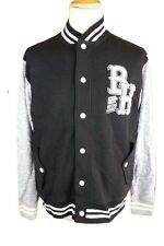 L375 Beck & Hersey Mens Black Baseball Varsity College Jacket Cardigan, Large