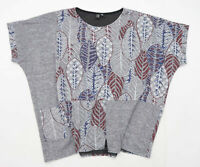 Izabel London Womens Size 8-10 Graphic Grey Oversized Top (Regular)