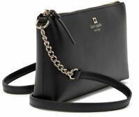 KATE SPADE Sawyer Street Declan Leather Crossbody Bag Black NEW with Tags $248