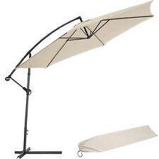 3,5m Sombrilla parasol de metal para terraza jardín protección solar UV beige