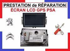 !! RÉPARATION !! ÉCRAN LCD GPS 98 044 102 80 A2C82145600 PEUGEOT, CITROËN !