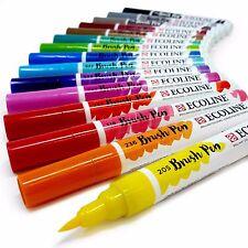 Royal TALENS Ecoline ACQUARELLI LIQUIDI Pittura Disegno Pennello PENNE-Set di 15
