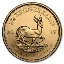 1/2 oz Gold Krügerrand 2019 - Südafrika Goldmünze Stempelglanz