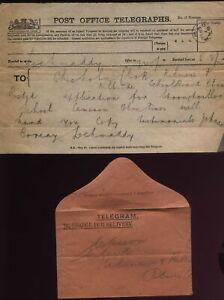 1892 ARGYLLSHIRE- OBAN Telegram and Envelope KILMORE & KILBRIDE SCHOOL BOARD