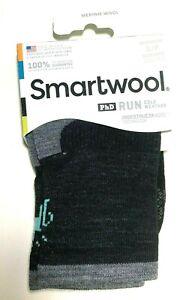 Smartwool PhD Run Cold Weather Mid Crew Black Womens Small 4-6.5 Merino Wool Soc