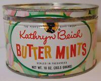 Vtg 1950s KATHRYN BEICH PASTEL COLORS GRAPHIC KEYWIND TIN BLOOMINGTON ILLINOIS