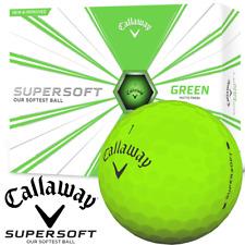 CALLAWAY SUPERSOFT GOLF BALLS 12 BALL DOZEN PACK / MATTE GREEN / MULTIBUY DEALS