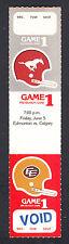 Calgary Stampeders vs Edmonton Eskimos June 5 1981 PreSeason Unissued Ticket