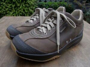 Men's MBT Tembea Brown Leather Lace Up Toning Walking Shoes Size UK 8.5 EU 43