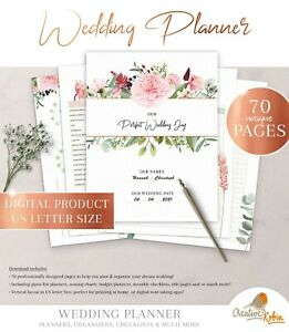 WEDDING PLANNER Checklist | Wedding Program | Wedding Budget Planner | Printable