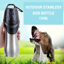 750ml Dog Drinking Bottle Travel Water Bowl Portable Puppy Stainless Steel Cup