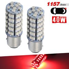 1157 BAY15D Bright Red 2-Bulb 68SMD High Power Brake Tail Stop LED Light Bulbs