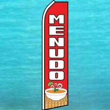 Menudo Flutter Flag Tall Mexican Food Advertising Banner Sign Feather Swooper