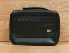 Genuine Case Logic Black Faux Leather Travel Tote For Portable DVD Player *READ*
