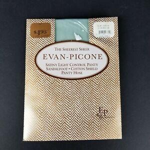 Evan Picone Fashion Collection Slim Medium Blue Shadow Panty Hose Vintage