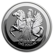 British Virgin Islands $1 Pegasus 2017 1 oz .999 Silver Coin - Reverse Proof