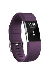 Pre-Owned Fitbit Charge 2 Heart Rate Fitness Activity Tracker Plum Small