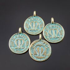 40pcs Green Bronze Alloy Commemorative Coins Pendants Charms Craft Jewelry 52078