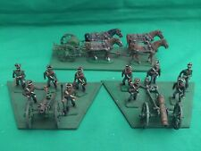HINCHLIFFE 25/28mm PAINTED & BASED NAPOLEONIC RUSSIAN ARTILLERY X 2 + LIMBER