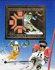 Timbre OR Sports d'hiver JO Ski Tchad 977 ** (33104H)