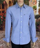 Abercrombie Muscle Size M Mens Shirt Button Front Long Sleeve Slim Fit 100% Cot