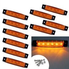 1PC Orange DC 12V 6 LED Car Side Marker Indicators Lights Truck Trailer Bus Acc