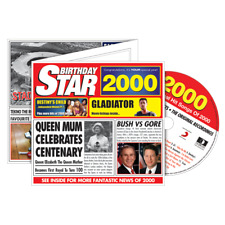 18th Birthday Gift - 2000 Chart Hits Compilation CD and Year Greetings Card