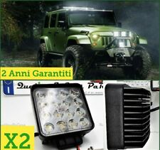 X2 Faretti LED per Jeep OFF ROAD FUORISTRADA supplementari Fari REGOLABILI Wrang