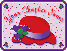 4X PERSONALIZED WITH YOUR CHAPTER NAME T-SHIRT FOR THE RED HAT LADIES OF SOCIETY