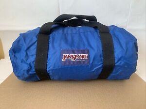 """Vintage JanSport 20"""" Duffle Blue Bag Made In USA"""