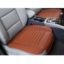 1pc PU Leather&Bamboo Charcoal Seat Cover Car Auto Breathable Front Seats Orange
