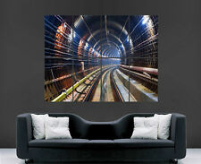 TUBO della metropolitana ferrovia TUNNEL SOTTERRANEO Muro Poster ART PICTURE PRINT Grande