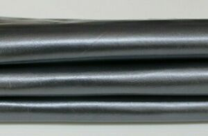 METALLIC STEEL Grey rough Italian Goatskin Goat leather skin 4+sqf 0.9mm #A5951