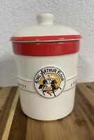 Vintage King Arthur Flour Sourdough Crock or Canister with Lid (1 QT)